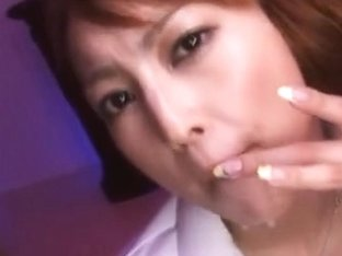 Kaede Matsushima Asian chick fucks in her nurse costume