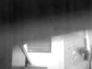 Security cams video with amateur masturbating