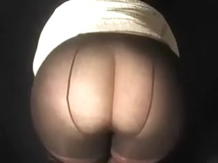 Irish butt of my thick PAWG girlfriend in different pantyhose