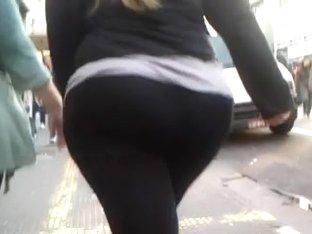 Big Butt Chubby Girl Public Walking