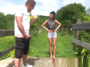 Outdoor whore pissed on