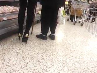 shopping in sexy heels