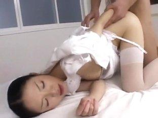 Amazing Japanese model Rei Matsushima in Horny Stockings/Pansuto, Threesomes JAV movie