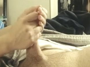 Massage and hand job on a short overweight ramrod.