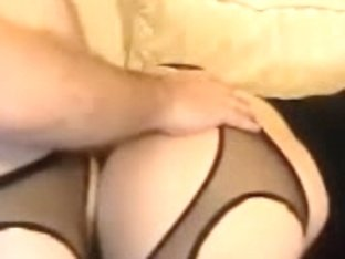 Couple in pantyhose presents nice amateur sex in the doggystyle