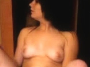 hot brunette masturbates