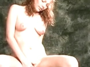 Youthful redhead rides on customize marital-device to fuck her cookie