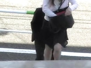 Hot Japanese businesswoman gets pulled into some wild sharking affair