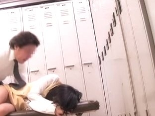 Director fucks an asian student in japanese voyeur movie