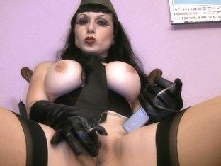 Sensual milf with big tits fucks her bimbo with a dildo