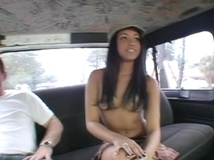 Young Abella Anderson on the bus