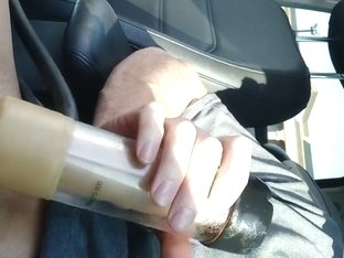 Edging in the Car With the Sex Machine Part 3