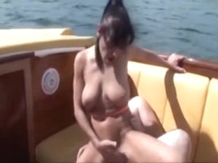 German Whore Has Some Enjoyment On Boat