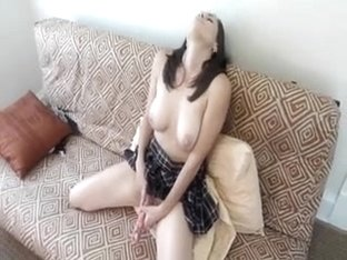 School Beauty Wife playing and sucking schlong