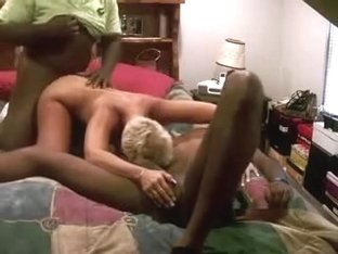 Short Haired Golden-Haired Wife Shared for Fucking with Darksome Fellas