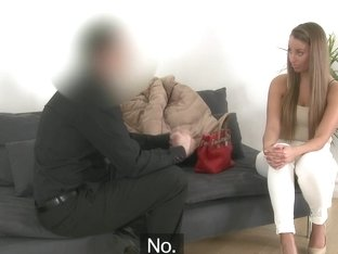 Casted euro creampied after pussyfucked