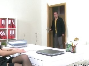 Dude fucked casting agent for job
