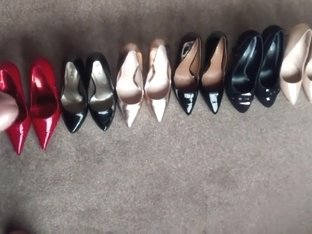 Spunking Over 7 Pairs Of Sexy High Heels!