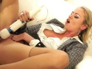 Fabulous pornstar Dorina Gold in hottest dildos/toys, blonde adult video