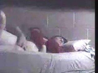 Voyeur Orgasm Massaging Her Old Clit