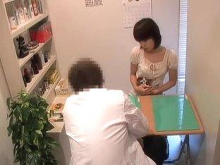 Amazing skinny Jap nailed pretty hard during medical exam