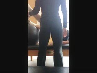 voyeured gym trainer ass