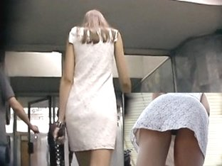 Subway gal in spy upskirt movie scene