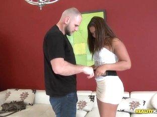Big ass latina Layla Summers gives Jmac a hot blowjob