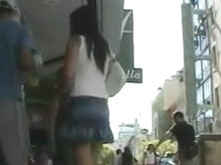 Shopping mall candid upskirt shots of unsuspecting girls browsing