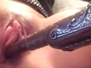 Closeup wet slit play