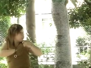 Chubby Asian girl sharked outdoors and caught on cam