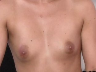 Naked brunette hair masseuse gives tugjob in shower