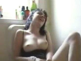 Masturbation on piss-can
