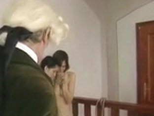 Retro clip with Czech gals getting whipped