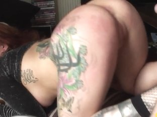 Tattooed british sub dominated with anal