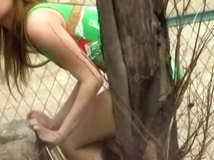 Smoking hot babe exposed to public nudity after the attack