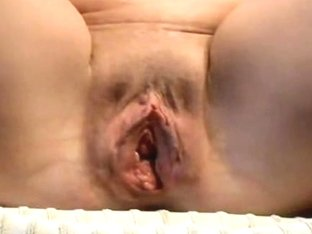 Close-up amateur video of a nice shaved loose cunt