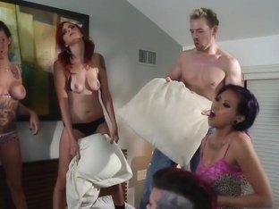 BurningAngel Emo Pillowfight Turns to Hardcore Fucking