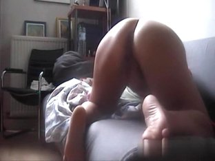 Drilling her arse aperture from behind