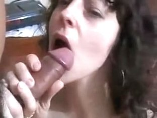 Nice-Looking woman licks black ding-dong