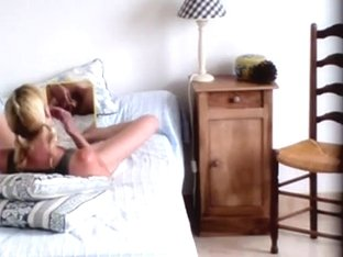 how fortunate can u be when u catch your wife masturbating whilst this babe is watching herself in.