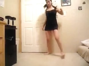 Teen dancing and stripping on video