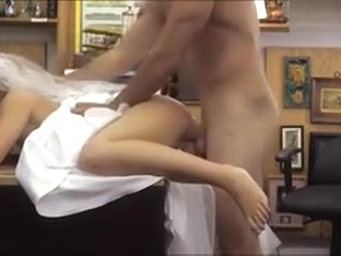 Pawn guy fucks sexy babe in the backroom to earn extra money