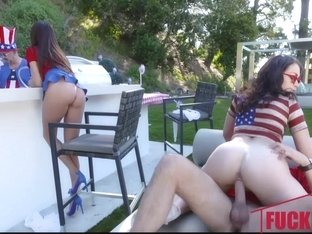 Ariella Ferrara And Jennifer Jacobs in Family Fourth Of July