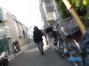 Cool street sharking treatment with some sweet little Japanese beauty