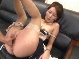 Fabulous Japanese whore in Incredible Cunnilingus, Office JAV movie