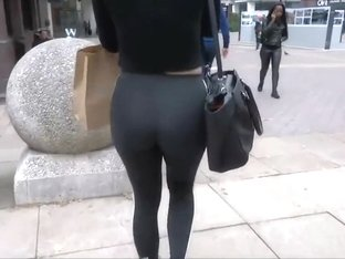 Creepshot of her tights and thong