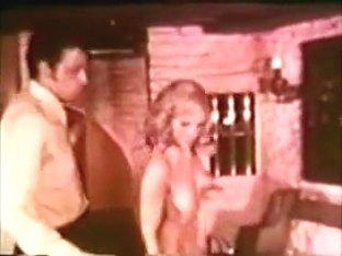 Vintage blonde in strip dance