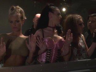 Best pornstars Sea J. Raw, Natasha Marley and Gracie Glam in hottest group sex, lingerie porn movie