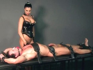 Slave boy gets hardcore treatment by Dom whilst bound and gaged